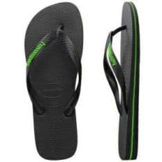Havaianas Rubber Logo Thongs Black/green. Havaianas Thongs in Mens Thongs & Mens Footwear. Code: HL7
