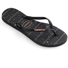 Havaianas Slim Metal Logo Prnt Line Blkro. Havaianas Thongs found in Womens Thongs & Womens Footwear. Code: HSLP7226