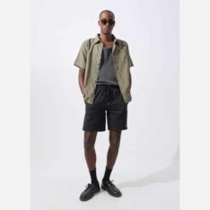 Afends Hemp Revial Walkshort Black. Afends Walkshorts - Elastic Waist found in Mens Walkshorts - Elastic Waist & Mens Shorts. Code: M194360