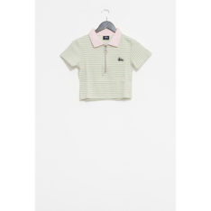 Stussy Monterey Rib Polo Pink Green Stripe. Stussy Polos in Womens Polos & Womens Shirts. Code: ST192116