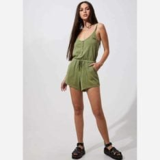 Afends Nina Playsuit Sage. Afends Dresses found in Womens Dresses & Womens Skirts, Dresses & Jumpsuits. Code: W194851