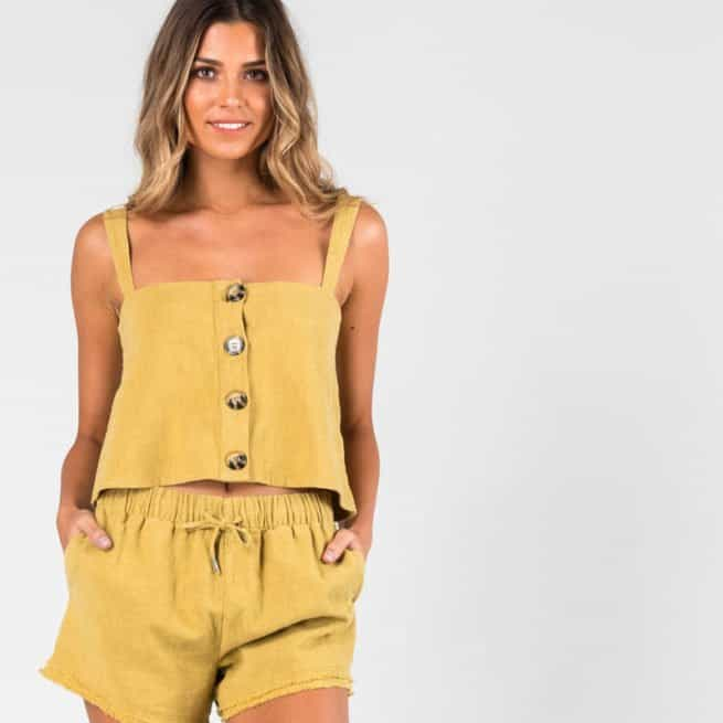 Rusty Heartbreaker Crop Cami Chartreuse. Rusty Fashion Tops found in Womens Fashion Tops & Womens Tops. Code: WSL0624