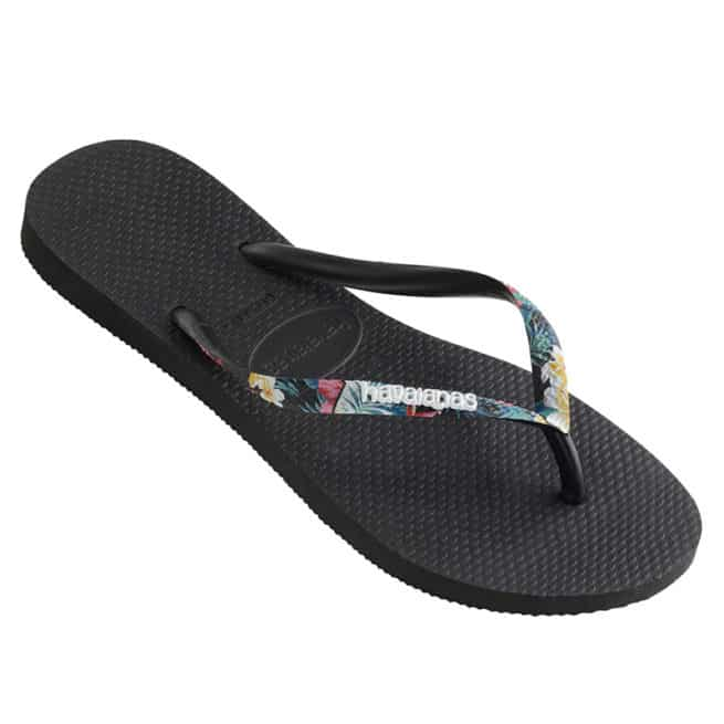 Havaianas Slim Strapped Logo Floral Blk. Havaianas Thongs found in Womens Thongs & Womens Footwear. Code: HSPS4190F