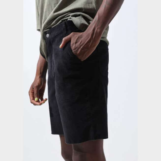 Afends Psych Corduroy Short Black. Afends Walkshorts - Fitted Waist found in Mens Walkshorts - Fitted Waist & Mens Shorts. Code: M194321
