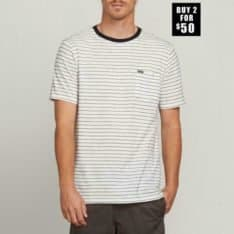 Volcom Stories Crew White. Volcom Tees in Mens Tees & Mens T-shirts & Singlets. Code: A01118R0