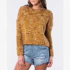 Rip Curl Smiths Crew Mustard. Rip Curl Knitwears in Womens Knitwears & Womens Jackets, Jumpers & Knits. Code: GSWHH1