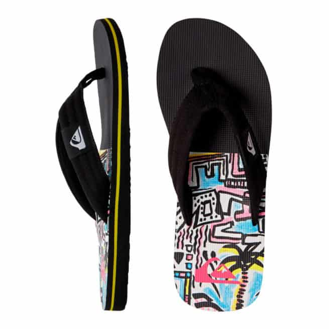 Quiksilver Molokai Layback Black/black/yellow. Quiksilver Thongs in Mens Thongs & Mens Footwear. Code: AQYL100899