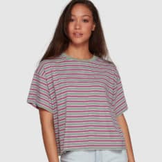 Rvca Retro Switch Tee Plum Berry. Rvca Tees - Long Sleeve in Womens Tees - Long Sleeve & Womens T-shirts & Singlets. Code: R207683