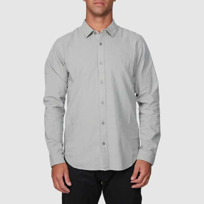 Rvca Crushed Long Sleeve Shirt Cement. Rvca Tees - Long Sleeve in Mens Tees - Long Sleeve & Mens T-shirts & Singlets. Code: R391193