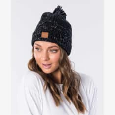 Rip Curl Flecker Pom-pom Beanie Black. Rip Curl Beanies And Scarves in Womens Beanies And Scarves & Womens Headwear. Code: GBNBJ1