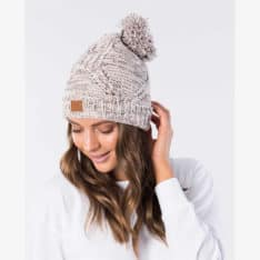 Rip Curl Flecker Pom-pom Beanie Dusk Pink. Rip Curl Beanies And Scarves in Womens Beanies And Scarves & Womens Headwear. Code: GBNBJ1