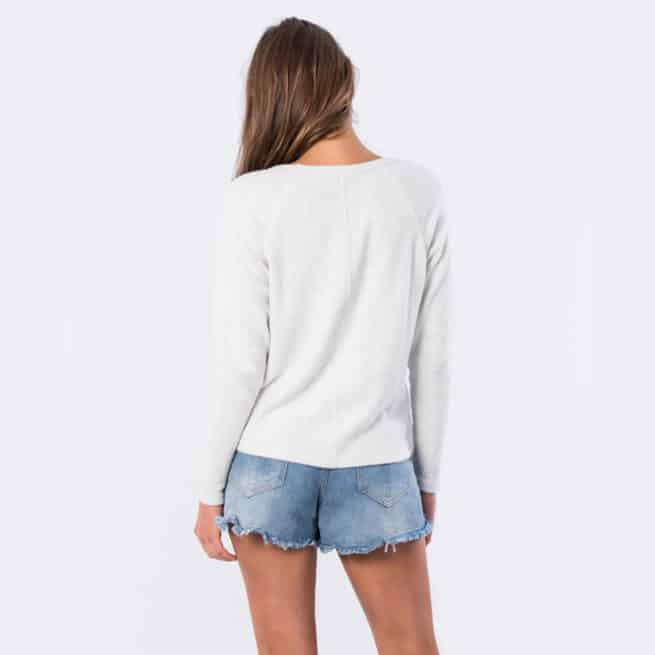 Rip Curl Cosy V Neck Fleece White Marle. Rip Curl Tees in Womens Tees & Womens T-shirts & Singlets. Code: GFEKB4