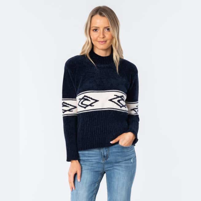Rip Curl Vibe I Sweater Navy. Rip Curl Sweats in Womens Sweats & Womens Jackets, Jumpers & Knits. Code: GSWHP1