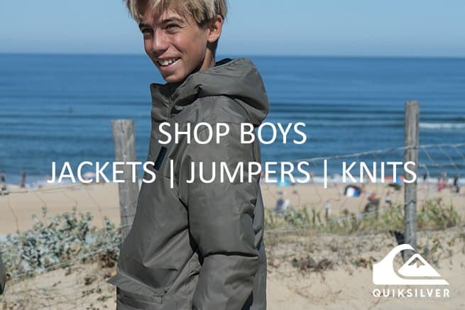 Quiksilver Boys Jackets Jumpers and Knits