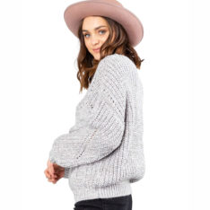 Rusty Folktale Chunky Knit Light Grey Marle. Rusty Knitwears in Womens Knitwears & Womens Jackets, Jumpers & Knits. Code: CKL0378