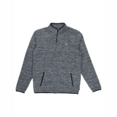 Rusty Polarised Express 1/4 Zip Fle Grey Marle. Rusty Sweats in Mens Sweats & Mens Jackets, Jumpers & Knits. Code: FTM0912