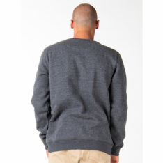 Rusty One Hit Wonder Crew Fleec Dark Grey Marle. Rusty Sweats in Mens Sweats & Mens Jackets, Jumpers & Knits. Code: FTM0917