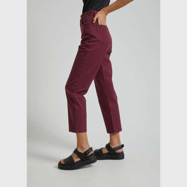 Afends Shelby High Waist Pant Port. Afends Pants in Womens Pants & Womens Pants & Jeans. Code: W201460