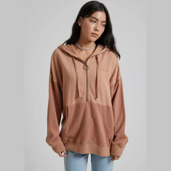 Afends Retrograde Hoody Almond. Afends Hoodies in Womens Hoodies & Womens Jackets, Jumpers & Knits. Code: W202513