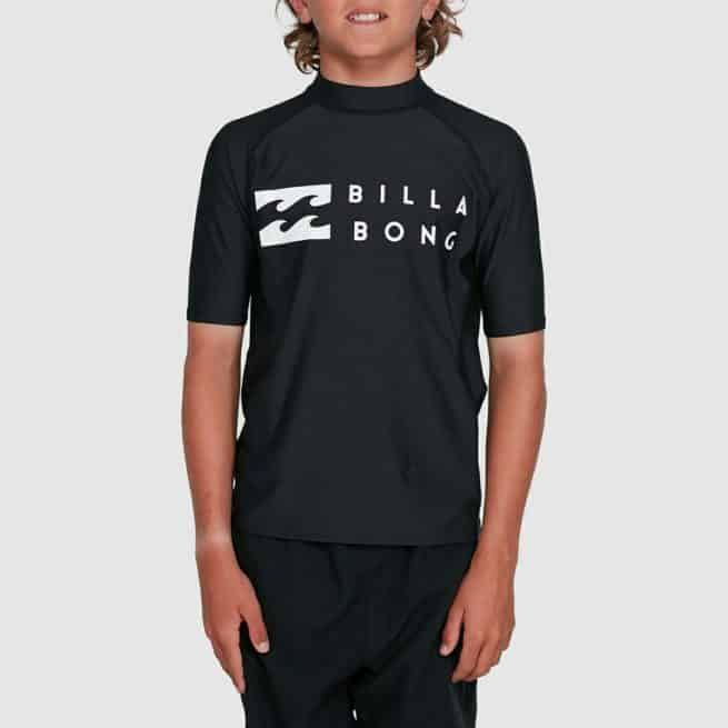 Billabong Boys Union Relaxed Fit Short Sleeve Rashie Black. Billabong Rashvests in Boys Rashvests & Boys Wetsuits. Code: 8703000
