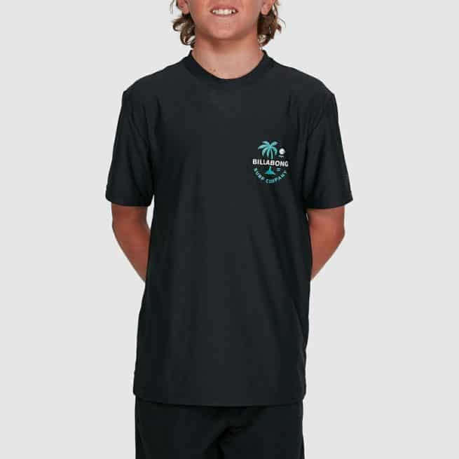Billabong Boys Vacation Loose Fit Short Sleeve Rashi Black. Billabong Rashvests in Boys Rashvests & Boys Wetsuits. Code: 8703002