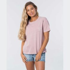 Rip Curl The Searchers Tee Dusk Pink. Rip Curl Tees in Womens Tees & Womens T-shirts & Singlets. Code: GTEHR9