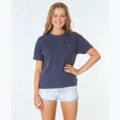 Rip Curl Search Logo Tee Indigo. Rip Curl Tees in Womens Tees & Womens T-shirts & Singlets. Code: GTEIW9
