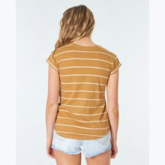 Rip Curl Plains Rolled Tee Tobacco. Rip Curl Tees in Womens Tees & Womens T-shirts & Singlets. Code: GTEJG9