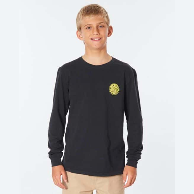 Rip Curl Wettie Logo L/s Tee-boy Washed Black. Rip Curl Tees - Long Sleeve in Boys Tees - Long Sleeve & Boys T-shirts & Singlets. Code: KTEOD9