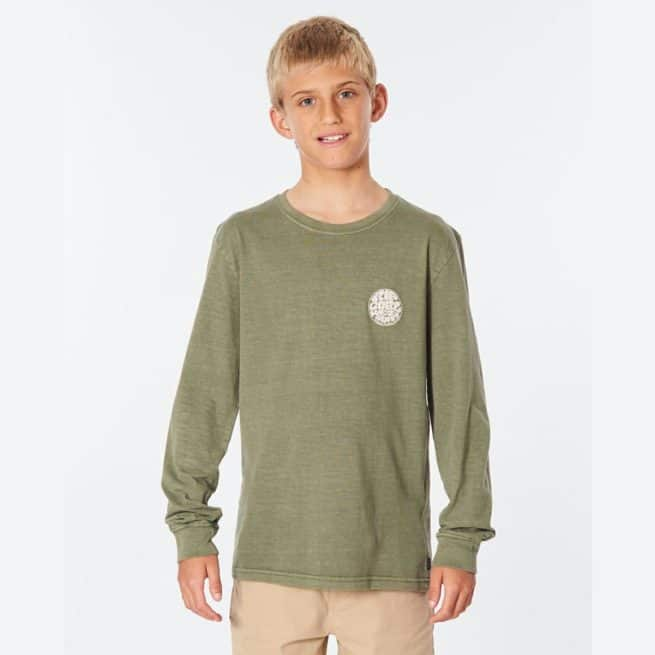 Rip Curl Wettie Logo L/s Tee-boy Dark Olive. Rip Curl Tees - Long Sleeve in Boys Tees - Long Sleeve & Boys T-shirts & Singlets. Code: KTEOD9