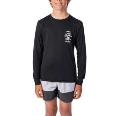 Rip Curl Boys Search Logo Long Sleeve Black. Rip Curl Rashvests in Boys Rashvests & Boys Wetsuits. Code: WLY9CB