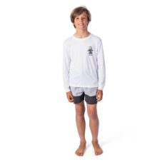 Rip Curl Boys Search Logo Long Sleeve White. Rip Curl Rashvests in Boys Rashvests & Boys Wetsuits. Code: WLY9CB