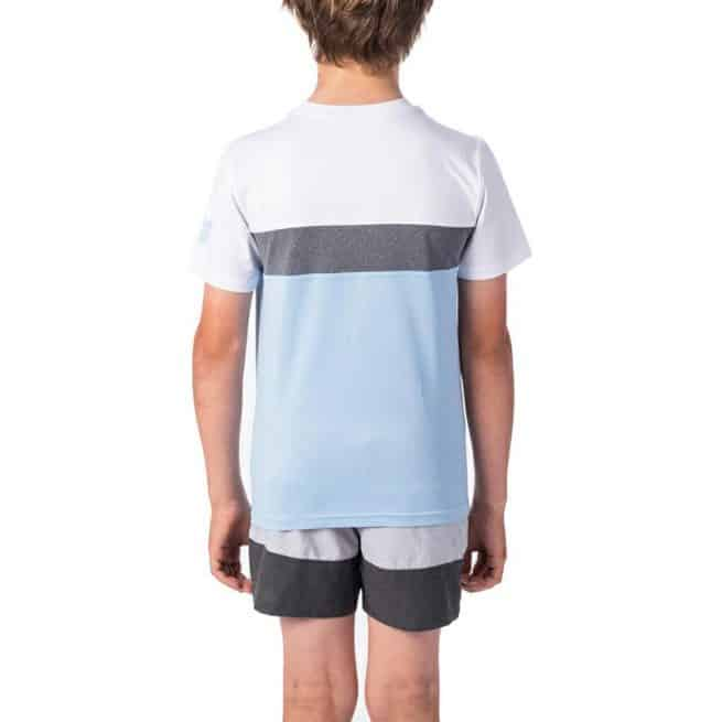 Rip Curl Boys Underline Panel Short Sleeve Blue. Rip Curl Rashvests in Boys Rashvests & Boys Wetsuits. Code: WLY9FB