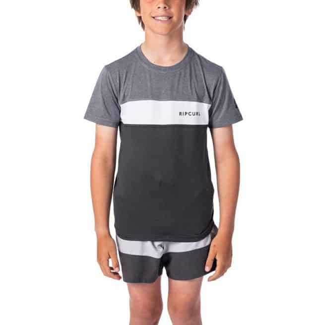 Rip Curl Boys Underline Panel Short Sleeve Charcoal Grey. Rip Curl Rashvests in Boys Rashvests & Boys Wetsuits. Code: WLY9FB