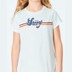 Rip Curl Girls Retro Short Sleeve Uv Surflit Blue. Rip Curl Rashvests in Girls Rashvests & Girls Wetsuits. Code: WLYYMJ