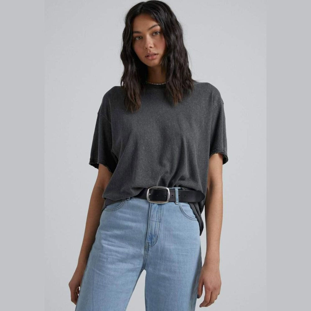 Afends Slay Oversized Hemp Tee Stblk. Afends Tees in Womens Tees & Womens T-shirts & Singlets. Code: W204033