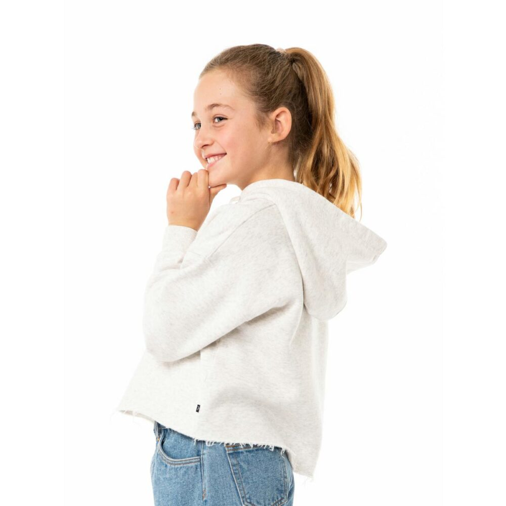 Rusty Out Of Mind Crop Hooded Fleece Girls White Marle. Rusty Knitwears in Girls Knitwears & Girls Jackets, Jumpers & Knits. Code: FTG0006