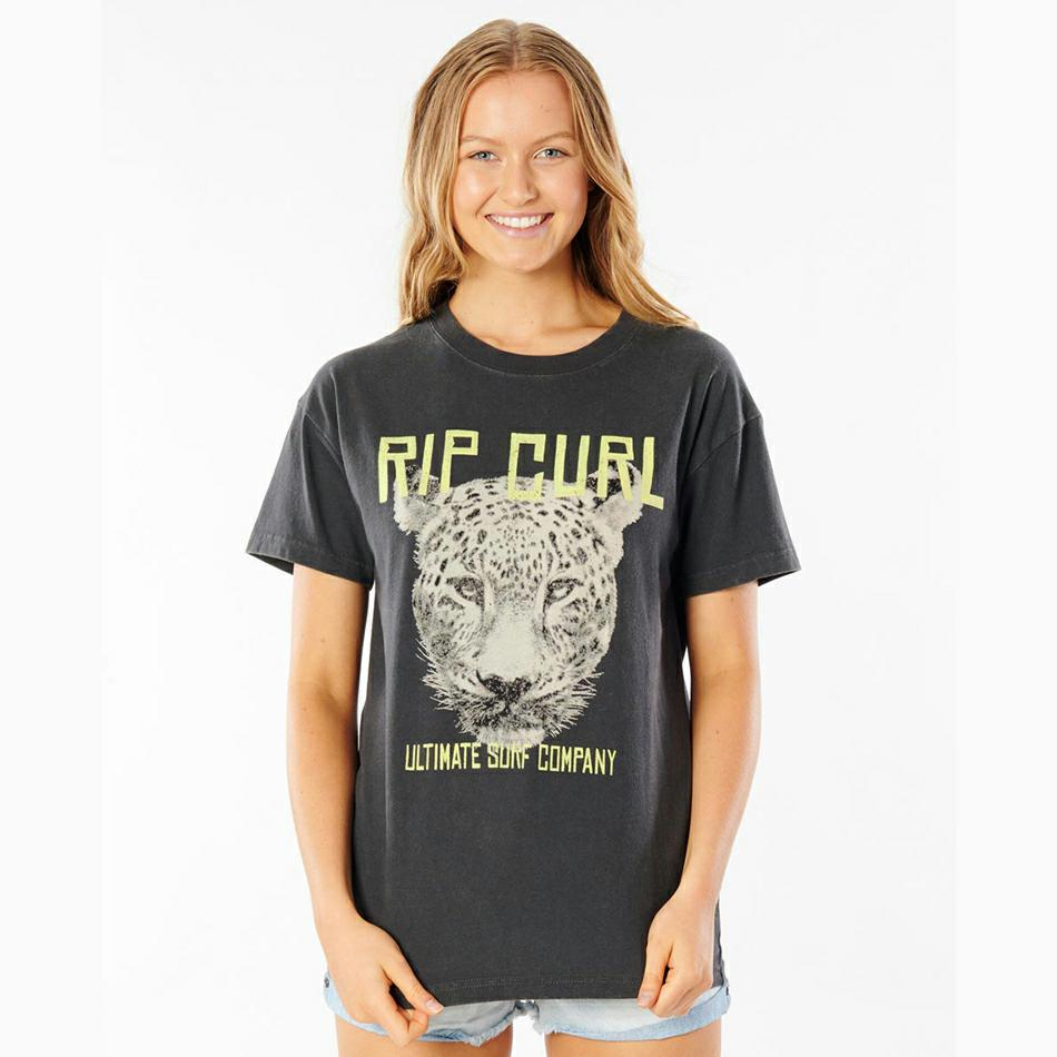 Rip Curl Leopard Oversized Tee Washed Black. Rip Curl Tees in Womens Tees & Womens T-shirts & Singlets. Code: GTEKB9