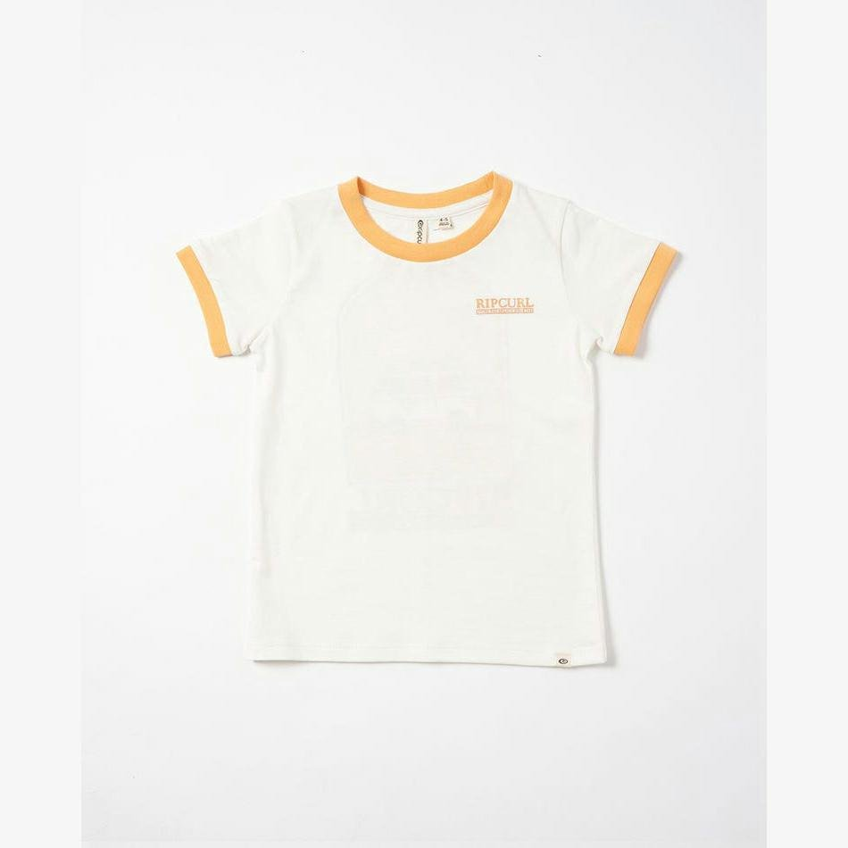 Rip Curl Surf Art Ringer Girls (0-7 Years) Caramel. Rip Curl Tees in Toddlers Tees & Toddlers T-shirts & Singlets. Code: FTEAE9