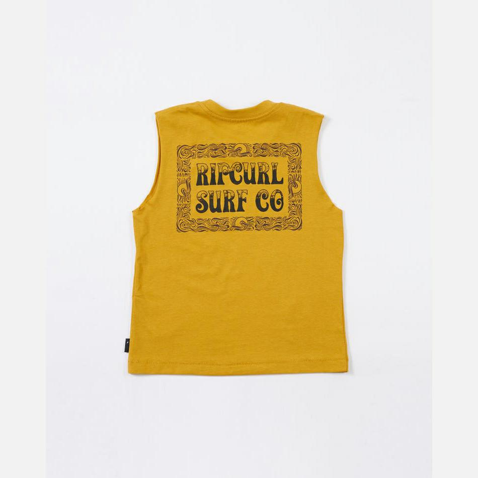 Rip Curl Coil Muscle - Boys (0-7 Years) Mustard. Rip Curl Singlets & Tanks in Toddlers Singlets & Tanks & Toddlers T-shirts & Singlets. Code: OTEUT9
